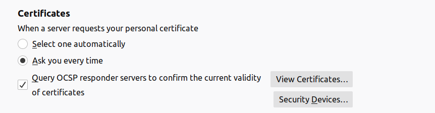 browser certificates