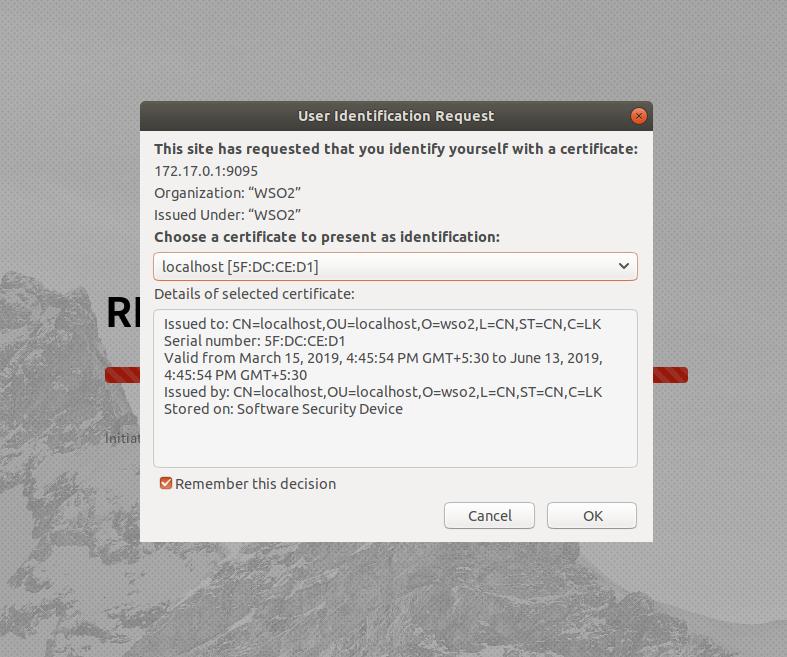 user identification request